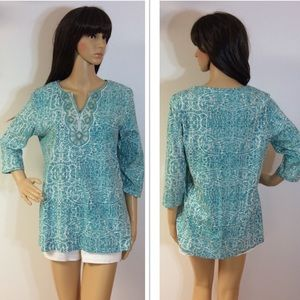 COLDWATER CREEK BEAD EMBELLISHED TOP/BLOUSE/TUNIC